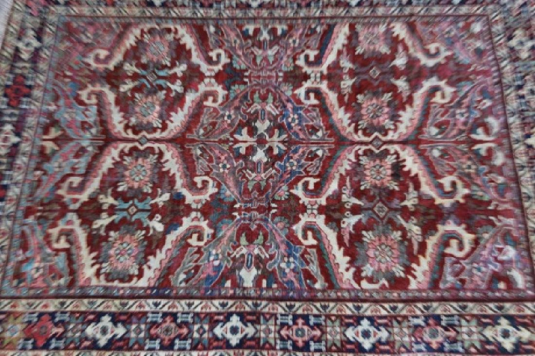 PERSIAN HAND WOVEN SEMI-ANTIQUE AREA RUG - 5