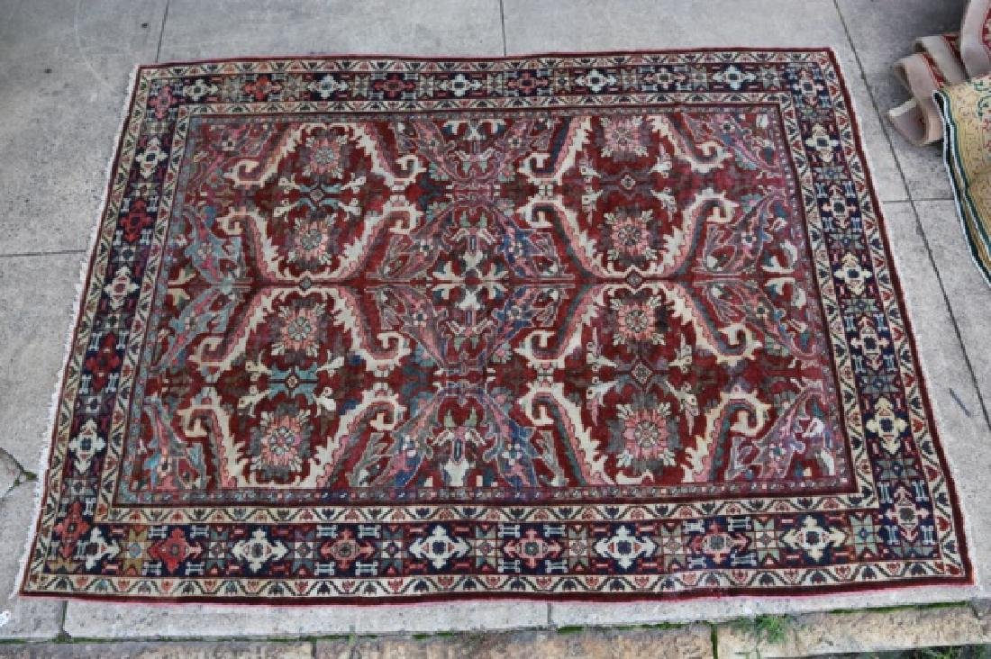 PERSIAN HAND WOVEN SEMI-ANTIQUE AREA RUG - 6