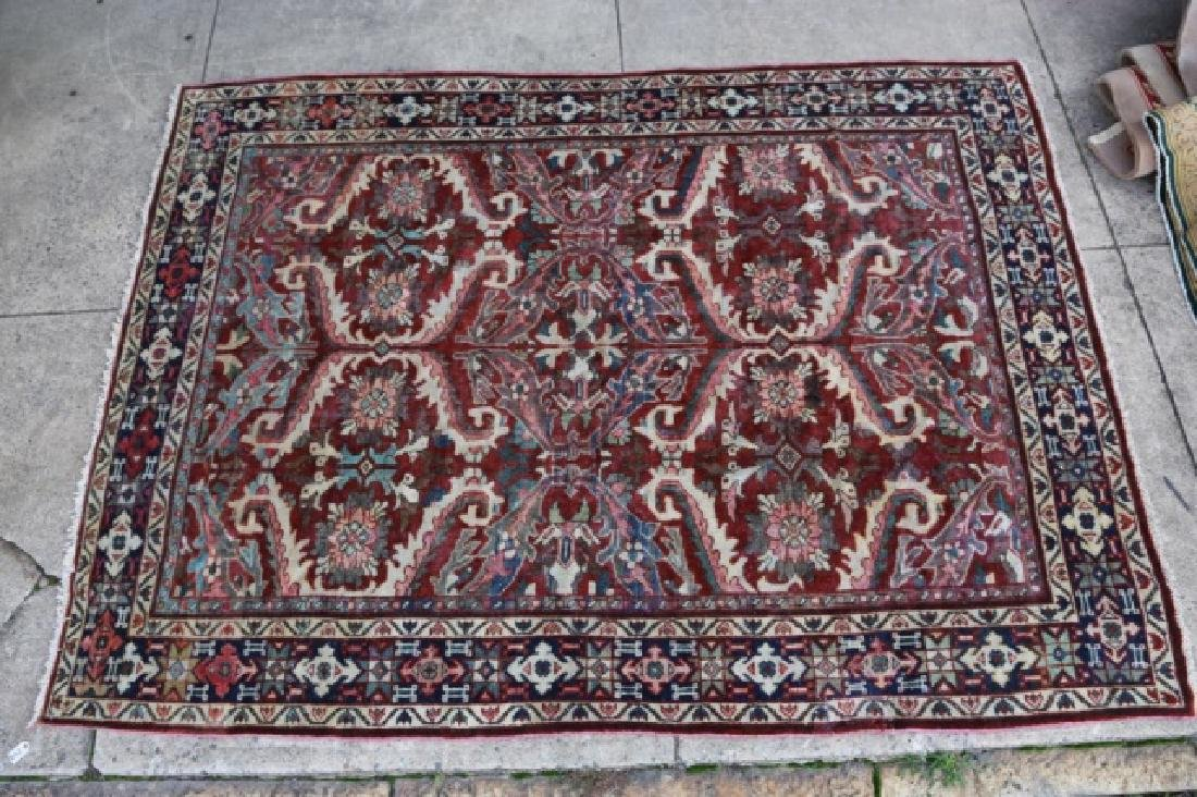 PERSIAN HAND WOVEN SEMI-ANTIQUE AREA RUG - 7