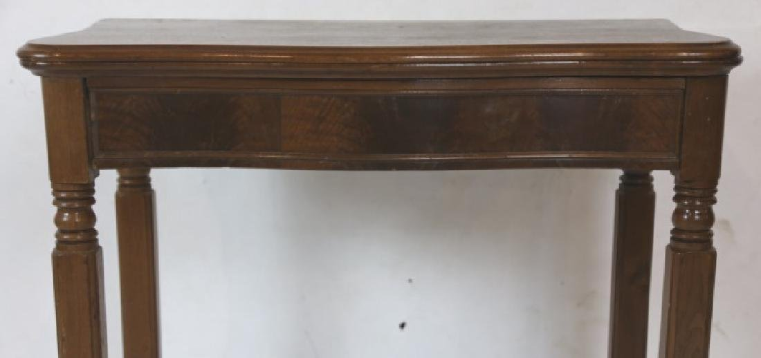 AMERICAN ANTIQUE WALNUT SERPENTINE GAME TABLE - 4