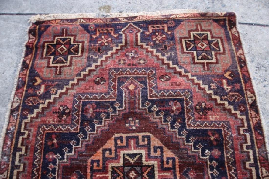 PERSIAN SEMI-ANTIQUE HAND WOVEN AREA RUNNER - 2