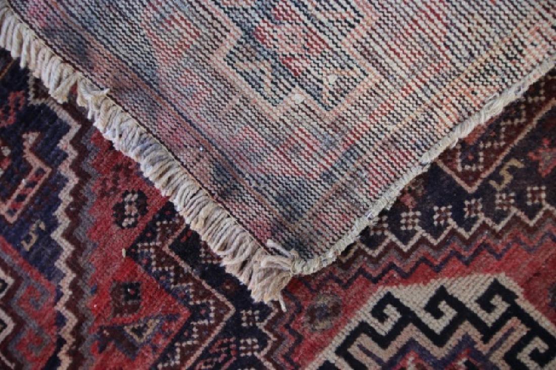 PERSIAN SEMI-ANTIQUE HAND WOVEN AREA RUNNER - 3