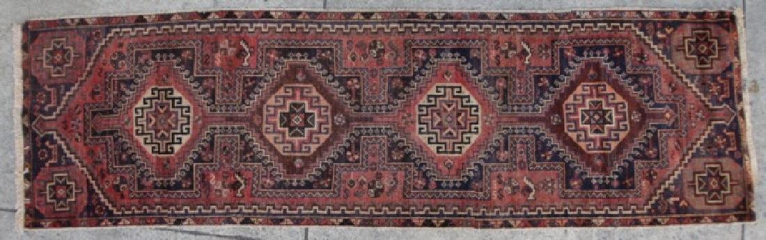 PERSIAN SEMI-ANTIQUE HAND WOVEN AREA RUNNER - 4