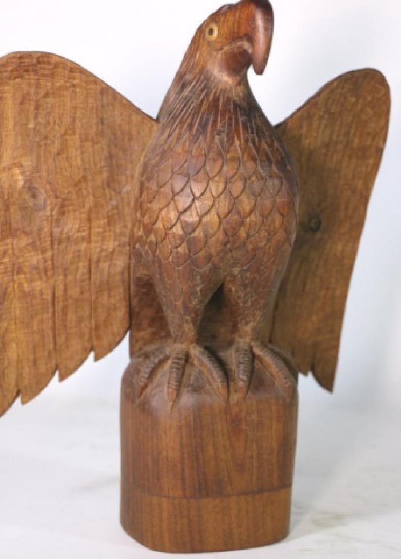 HENRY WINTER CARVED WALNUT EAGLE, SIGNED - 2