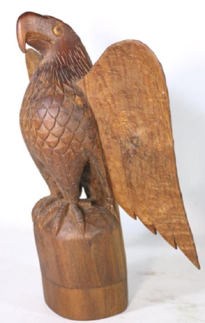 HENRY WINTER CARVED WALNUT EAGLE, SIGNED - 4