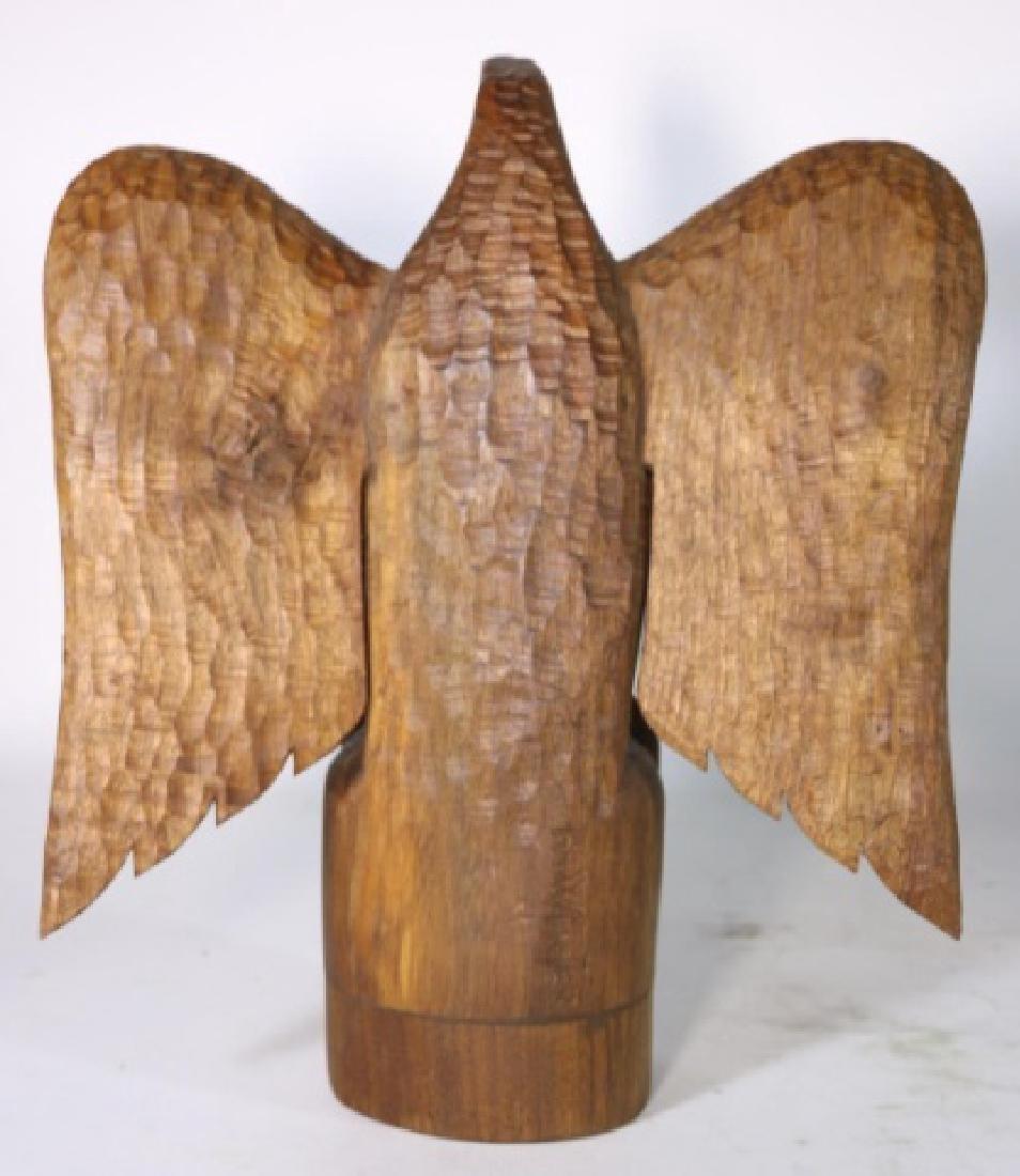 HENRY WINTER CARVED WALNUT EAGLE, SIGNED - 5