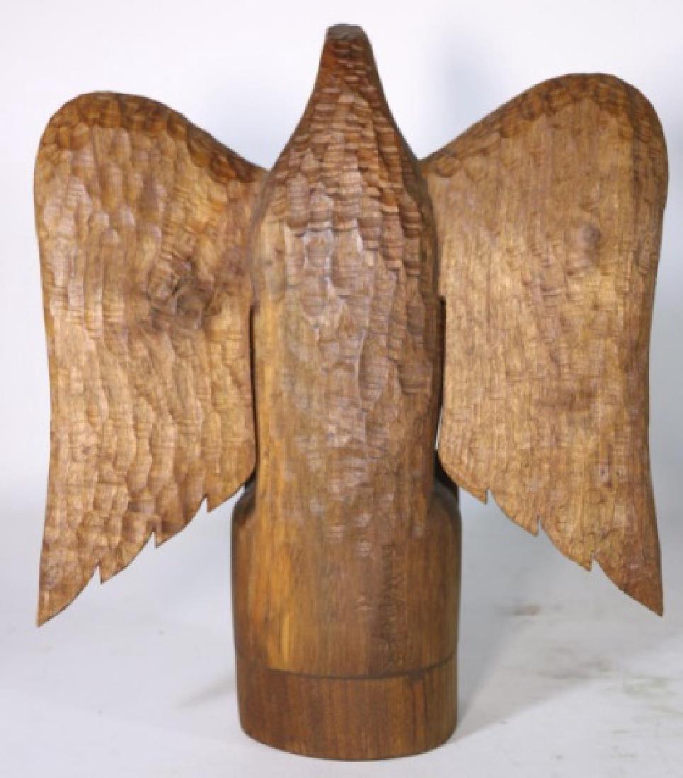 HENRY WINTER CARVED WALNUT EAGLE, SIGNED - 6