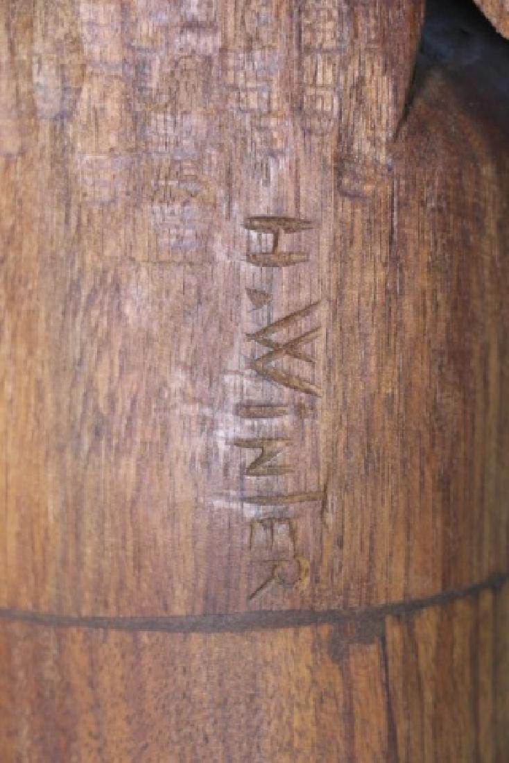 HENRY WINTER CARVED WALNUT EAGLE, SIGNED - 8