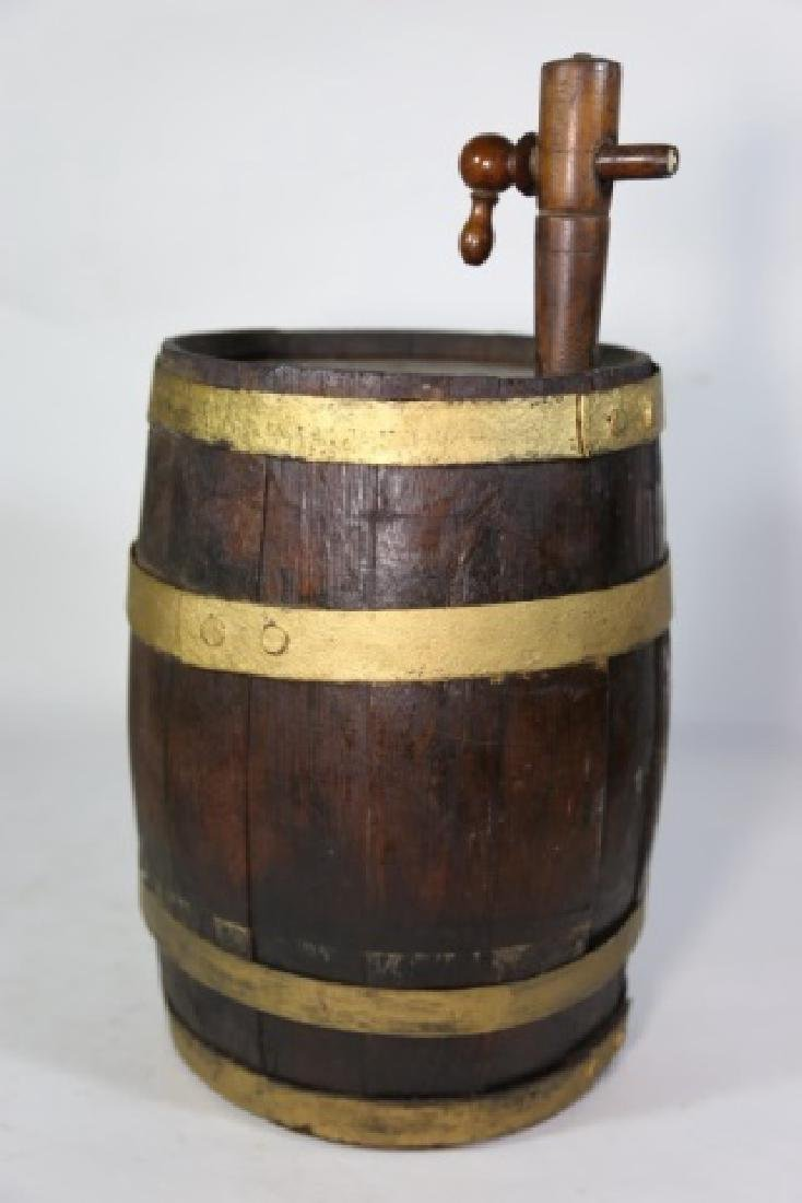 ANTIQUE WINE / WHISKEY BARRELL CASK - 4