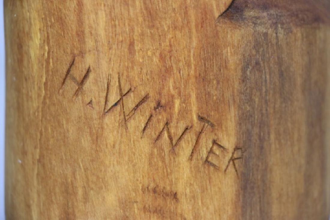HENRY WINTER CARVED BLOND WALNUT EAGLE, SIGNED - 6