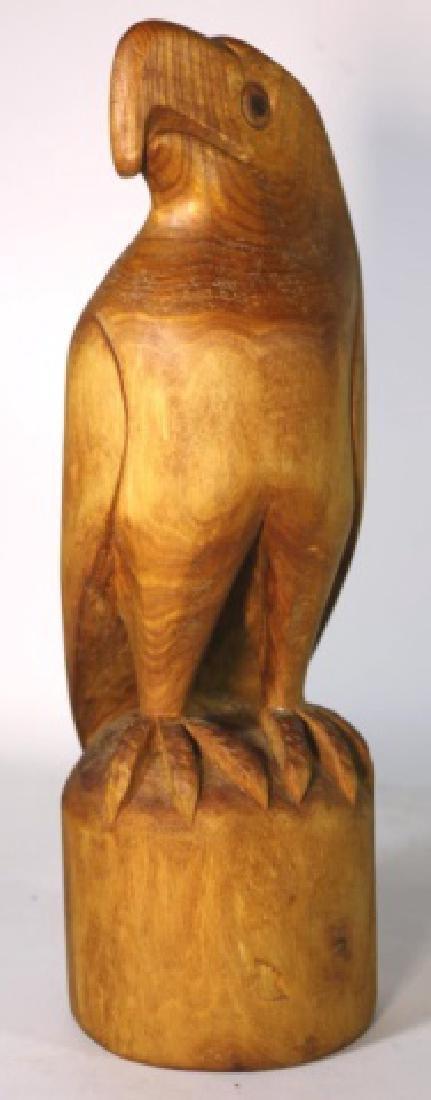 HENRY WINTER CARVED BLOND WALNUT EAGLE, SIGNED - 7