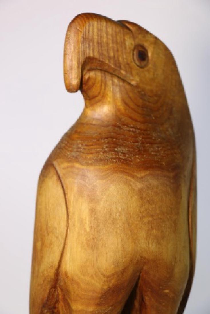 HENRY WINTER CARVED BLOND WALNUT EAGLE, SIGNED - 8