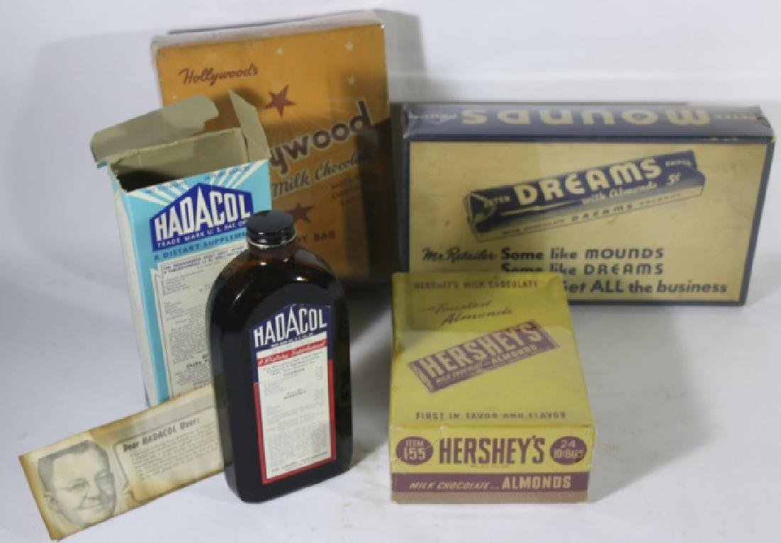 ANTIQUE ADVERTISING BOX GROUPING