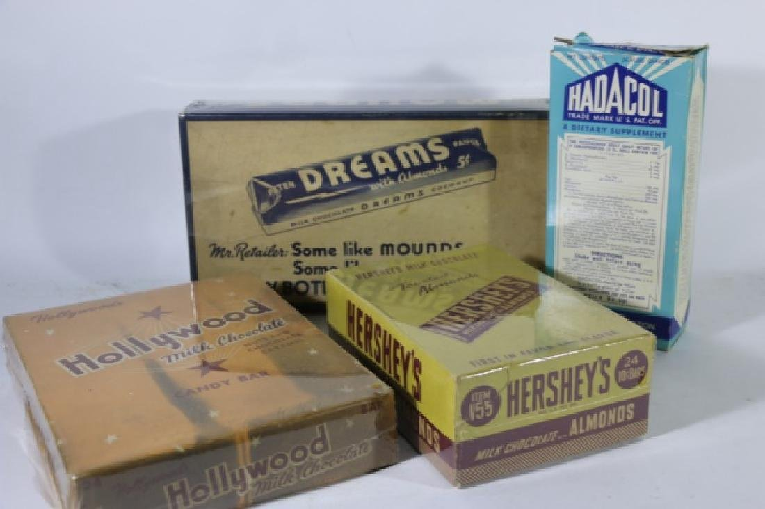 ANTIQUE ADVERTISING BOX GROUPING - 7