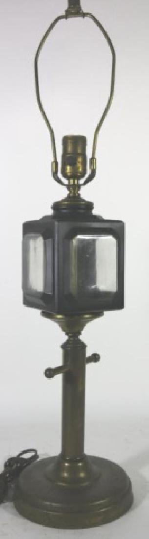 ANTIQUE CARRIAGE LIGHT  MOUNTED TABLE LAMP - 2