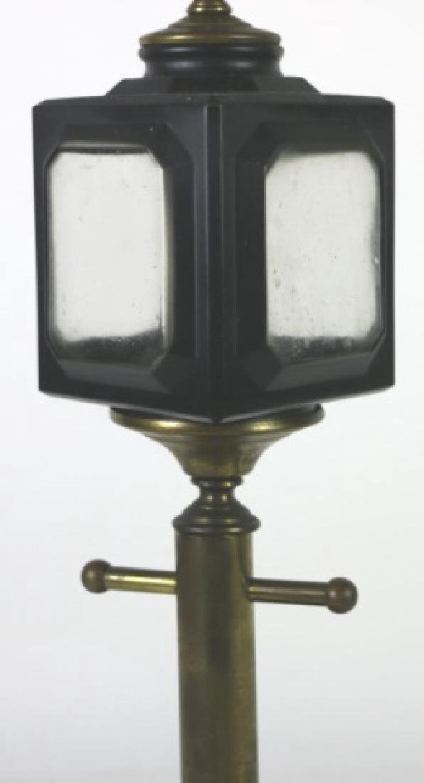 ANTIQUE CARRIAGE LIGHT  MOUNTED TABLE LAMP - 3