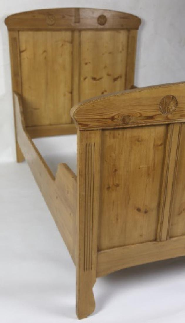 SWEDISH ANTIQUE PINE SINGLE BED - 2