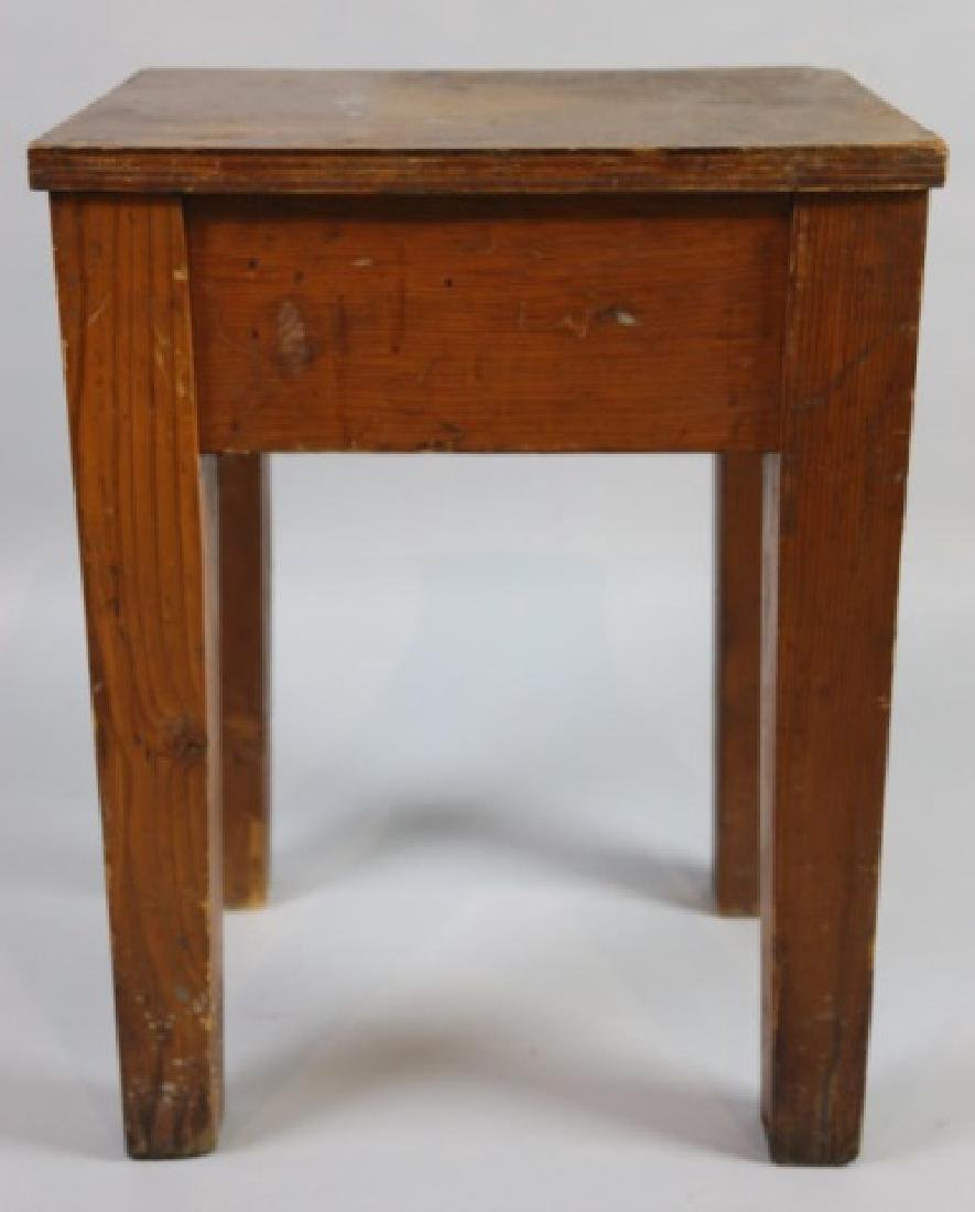 PRIMITIVE SOUTHERN YELLOW PINE ANTIQUE BENCH