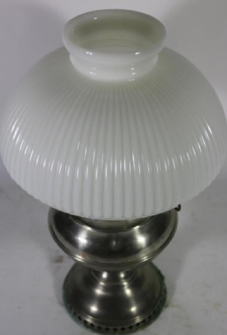 ANTIQUE BRASS OIL LAMP RAY BRADLEY HUBBARD 1905 - 4