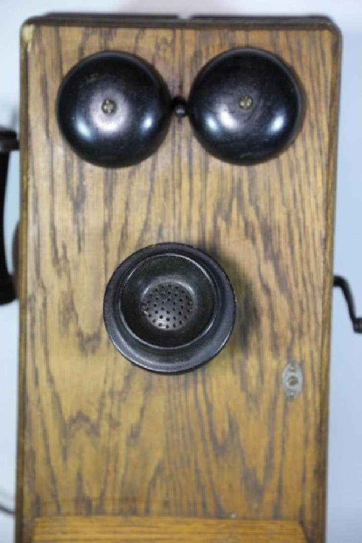 AMERICAN ANTIQUE OAK TELEPHONE - 4