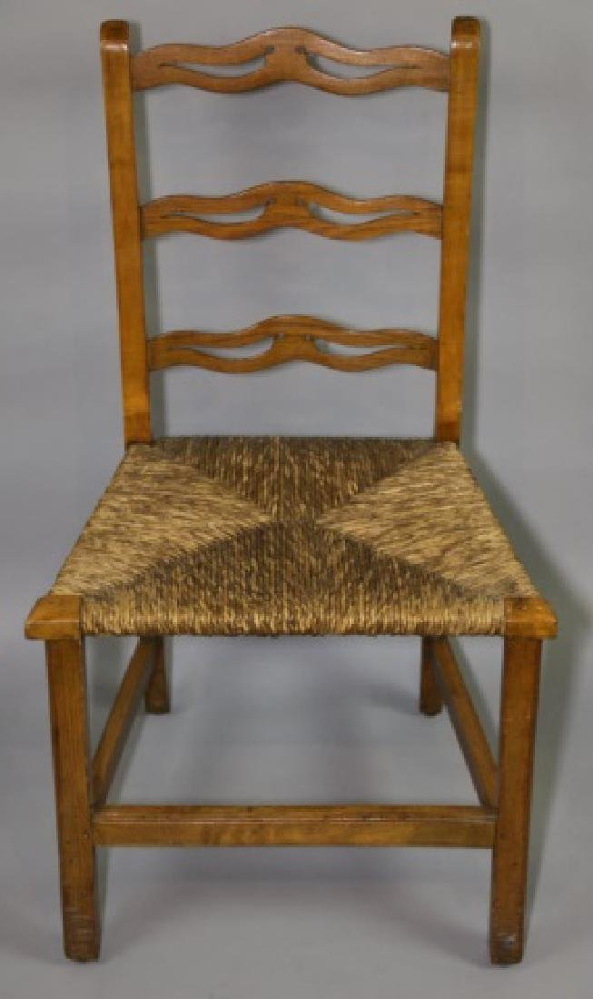 AMERICAN PRIMITIVE MAPLE RUSH SEAT SIDE CHAIR - 2