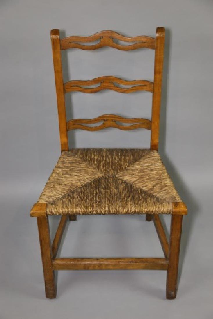 AMERICAN PRIMITIVE MAPLE RUSH SEAT SIDE CHAIR - 3