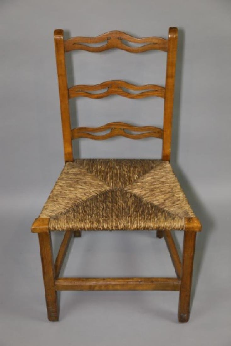 AMERICAN PRIMITIVE MAPLE RUSH SEAT SIDE CHAIR - 4