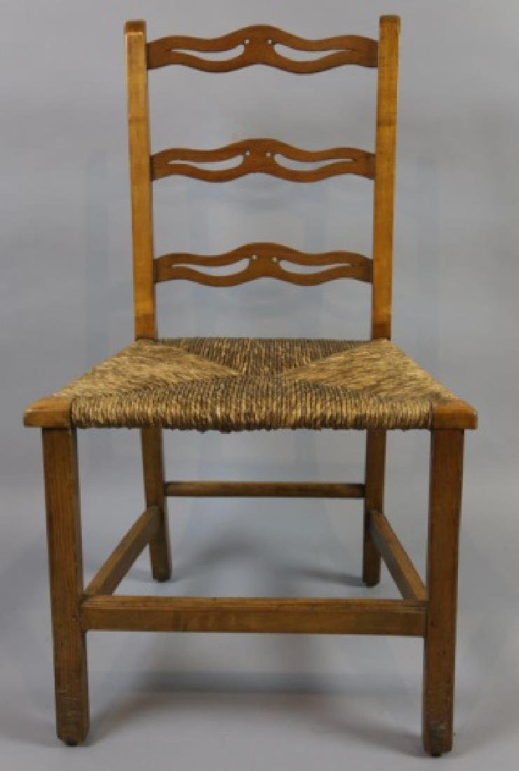 AMERICAN PRIMITIVE MAPLE RUSH SEAT SIDE CHAIR - 5