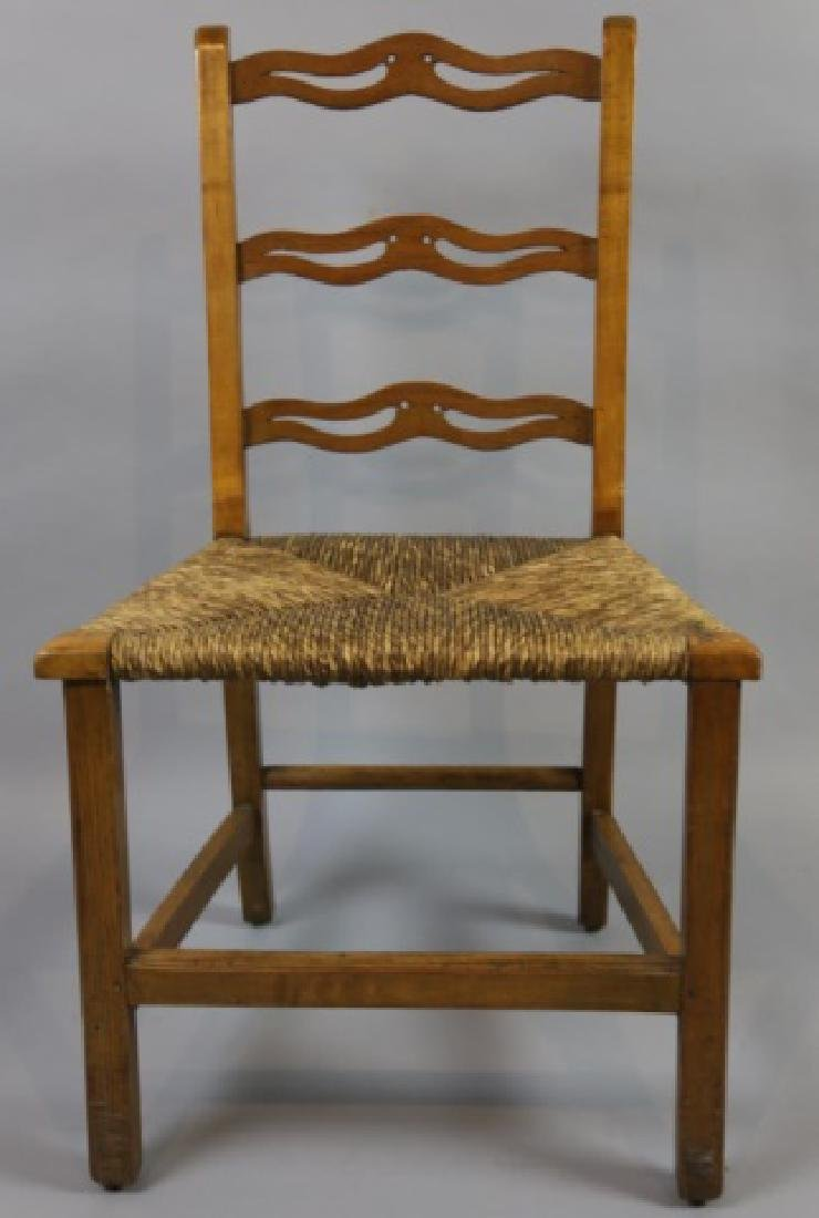 AMERICAN PRIMITIVE MAPLE RUSH SEAT SIDE CHAIR - 6