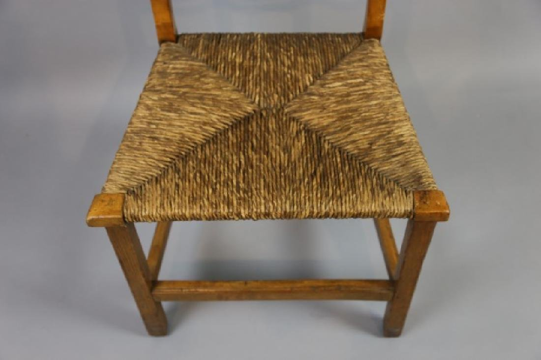 AMERICAN PRIMITIVE MAPLE RUSH SEAT SIDE CHAIR - 7