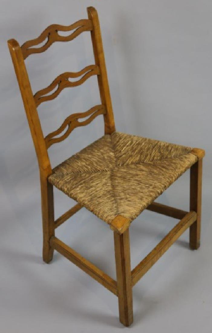 AMERICAN PRIMITIVE MAPLE RUSH SEAT SIDE CHAIR - 8