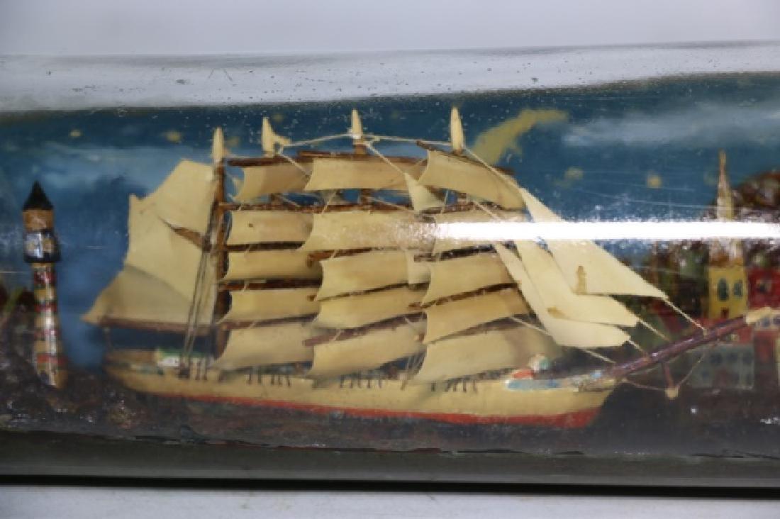 ENGLISH ANTIQUE SHIPS MODEL IN BOTTLE - 2