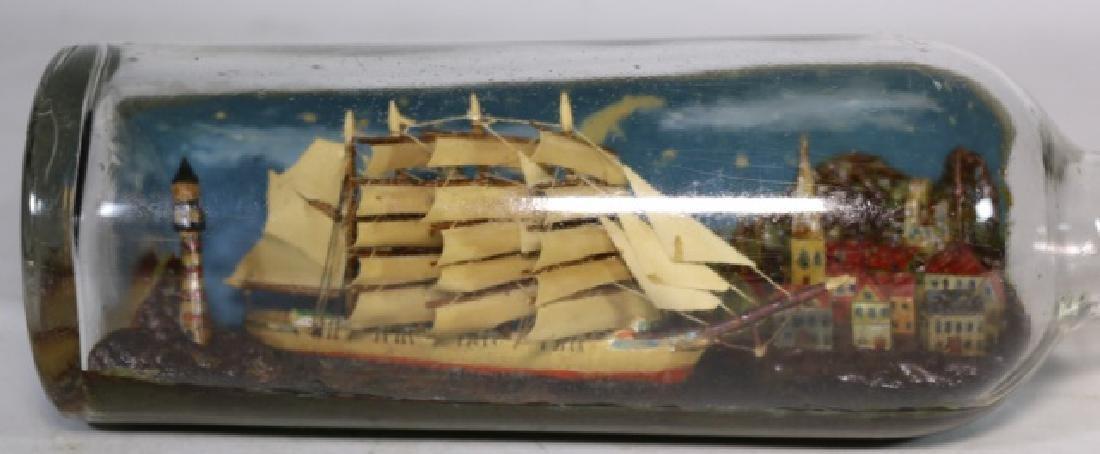 ENGLISH ANTIQUE SHIPS MODEL IN BOTTLE - 3