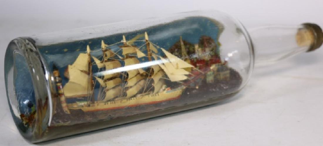 ENGLISH ANTIQUE SHIPS MODEL IN BOTTLE - 4