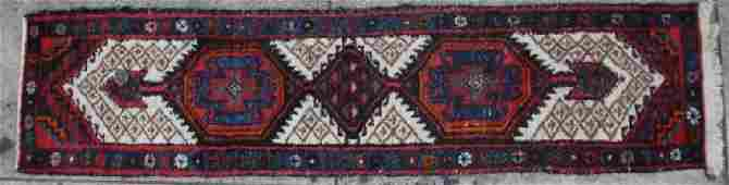PERSIAN ANTIQUE HAND WOVEN AREA RUNNER CARPET