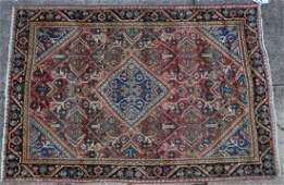 PERSIAN ANTIQUE MAHAL HAND WOVEN AREA RUG