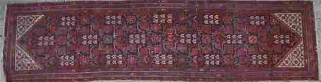 PERSIAN ANTIQUE  HAND WOVEN AREA RUNNER