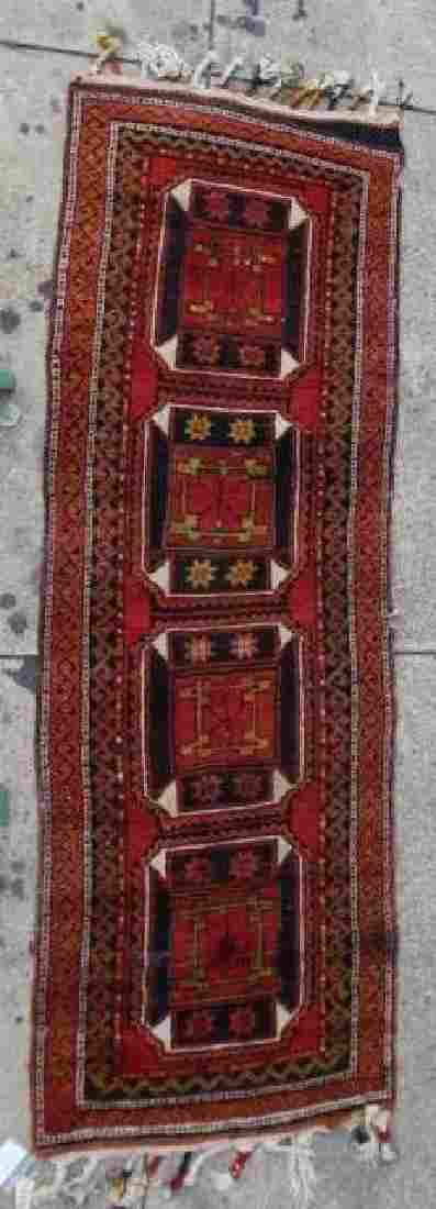PERSIAN ANTIQUE HAMADAN HAND WOVEN AREA RUNNER