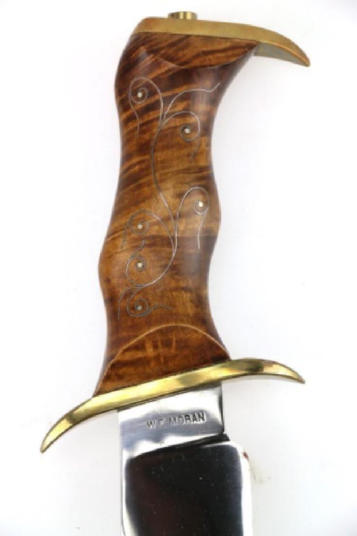 W F MORAN (AMERICAN 1925-2006) RARE BOWIE KNIFE - 16