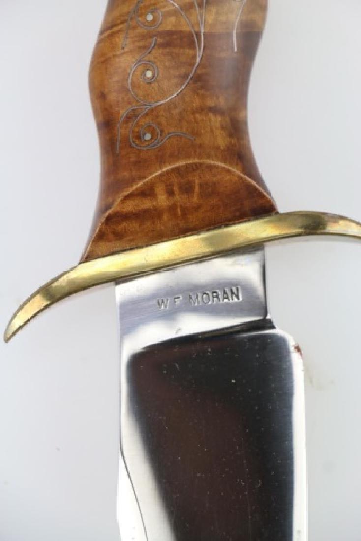 W F MORAN (AMERICAN 1925-2006) RARE BOWIE KNIFE - 18