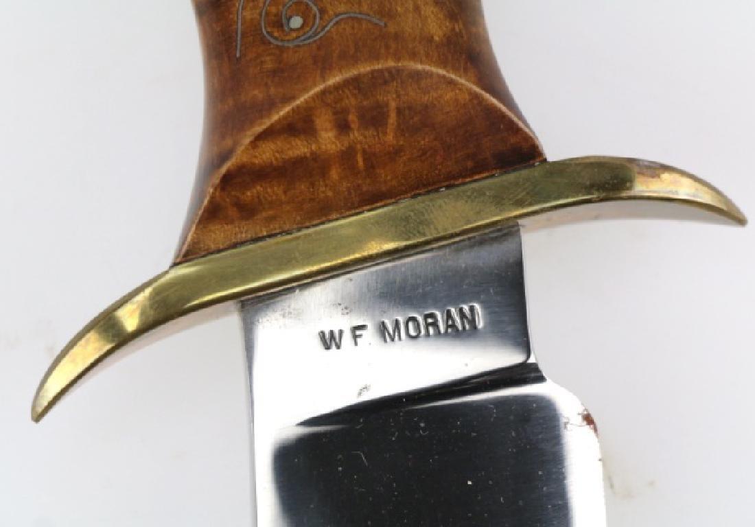 W F MORAN (AMERICAN 1925-2006) RARE BOWIE KNIFE - 2