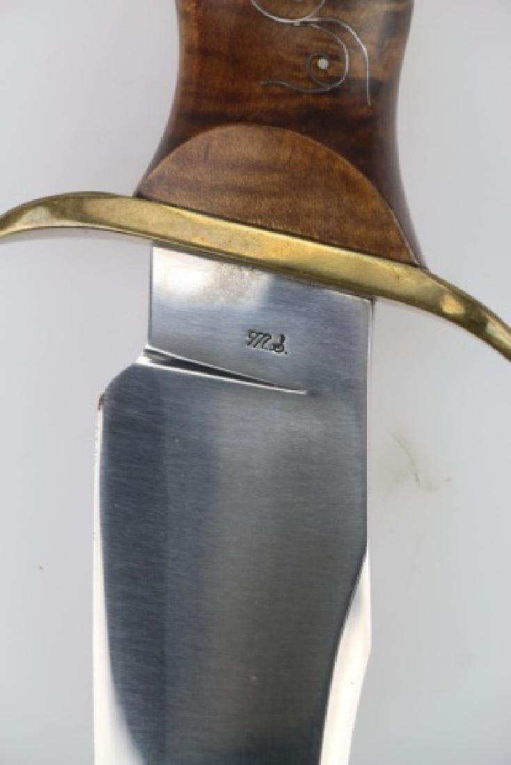 W F MORAN (AMERICAN 1925-2006) RARE BOWIE KNIFE - 7