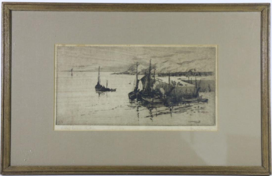 "D. DONALD ETCHING ""STONE HAVEN"" NEW BRUNSWICK"