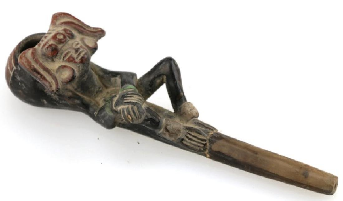PRE-COLUMBIAN MESOAMERICAN SMOKING PIPE
