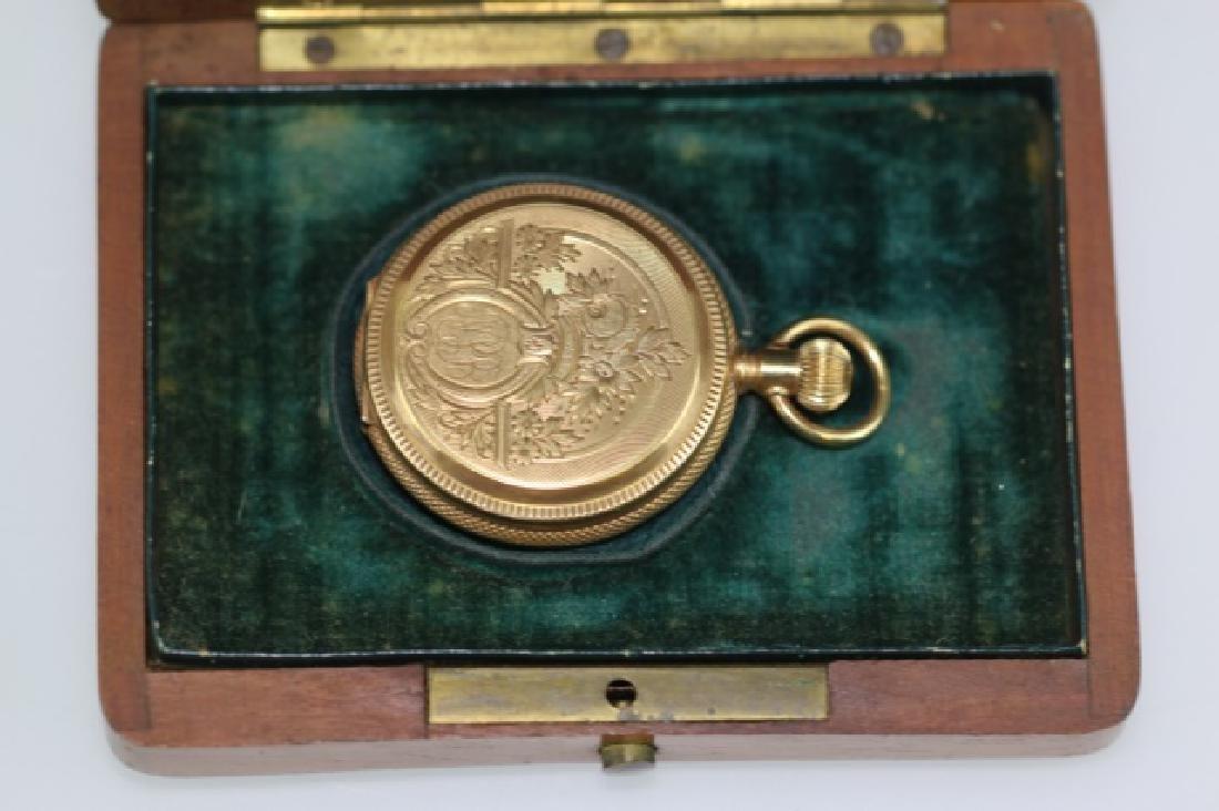 ELGIN 1887 14KYG  LEVER SET POCKET WATCH - 11