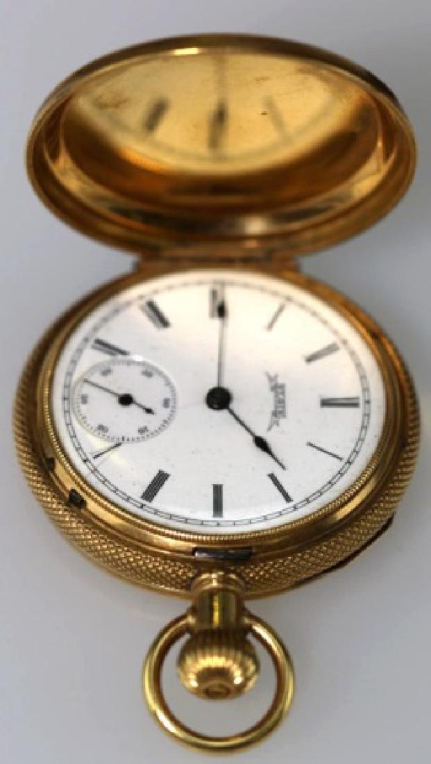 ELGIN 1887 14KYG  LEVER SET POCKET WATCH - 6