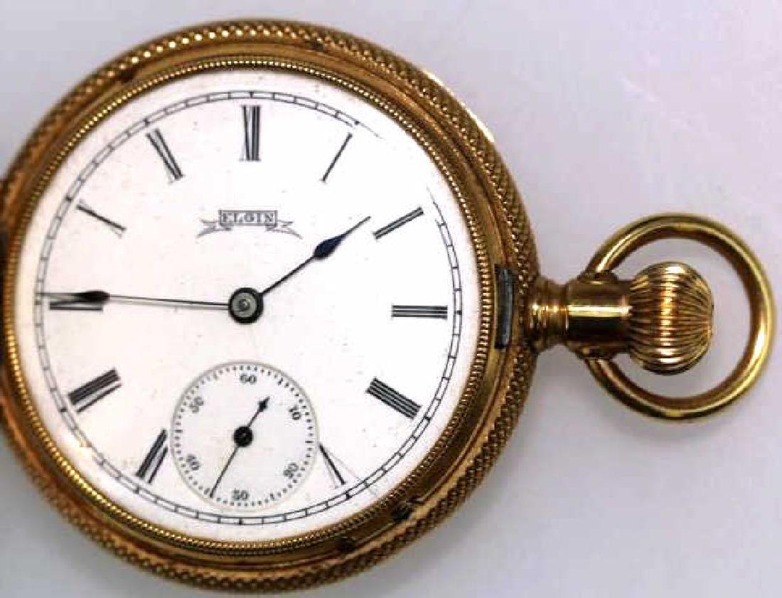 ELGIN 1887 14KYG  LEVER SET POCKET WATCH - 7