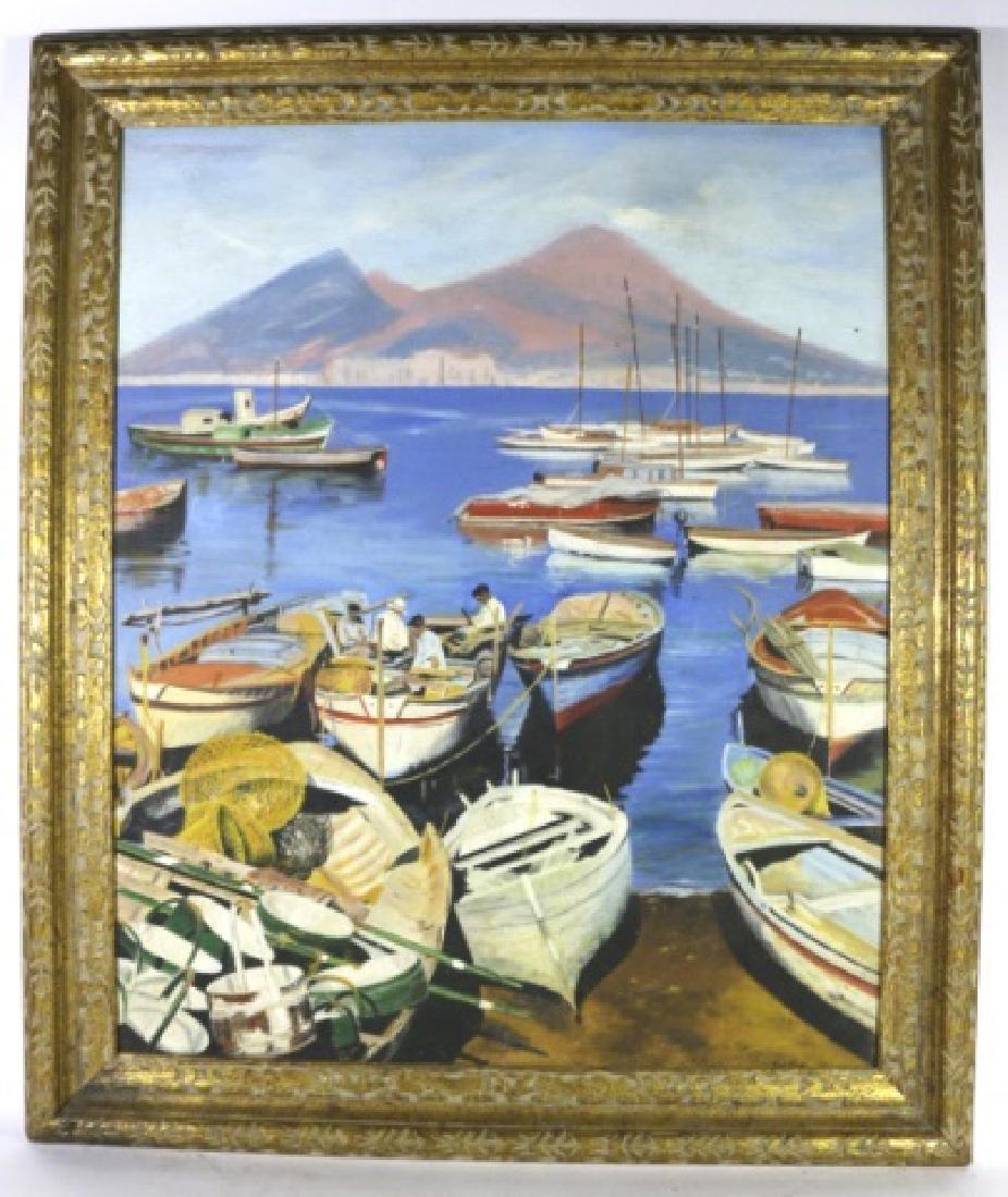 TOINI KLAMI (FINNISH 1908-1976) FISHING BOATS
