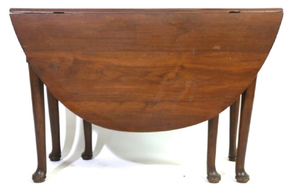 QUEENE ANNE 18TH C. DROP SIDE PAD FOOT TABLE