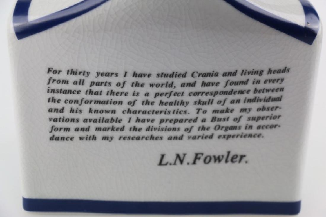 L.N. FOWLER PHRENOLOGY PORCELAIN CRAINIA BUST - 4